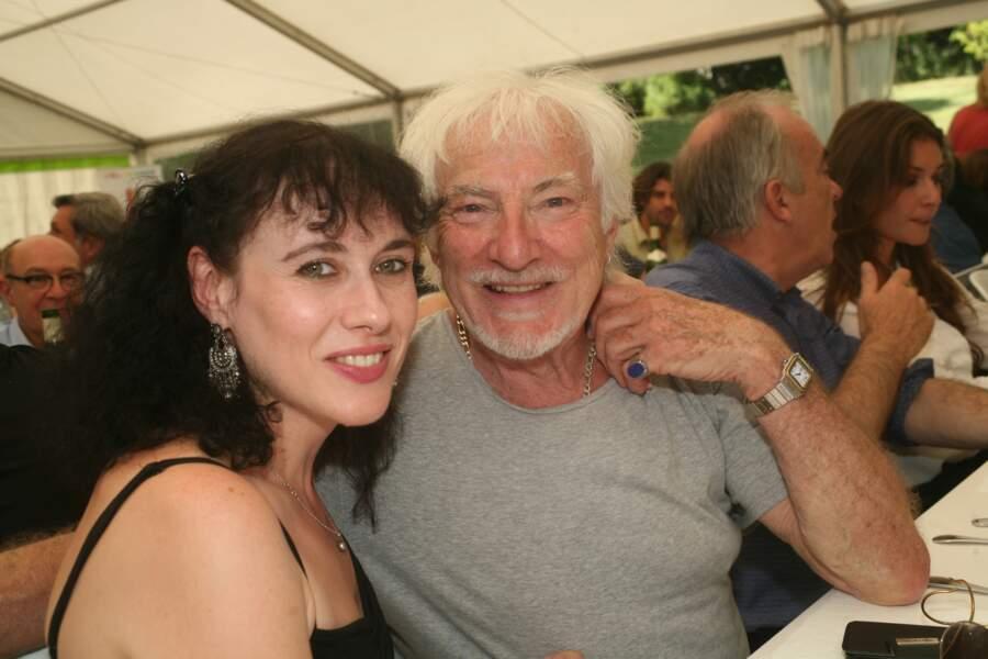 Hugues Aufray et sa compagne Muriel en 2015