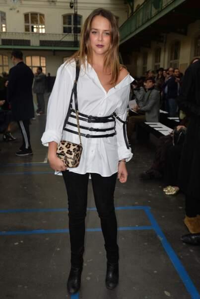 Pauline Ducruet a opté pour une tenue noire et blanche