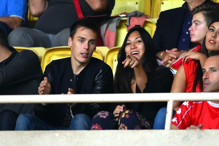 Louis Ducruet et sa compagne Marie âgés de 22 ans s'affichent dans les tribunes de l'AS Monaco en 2016