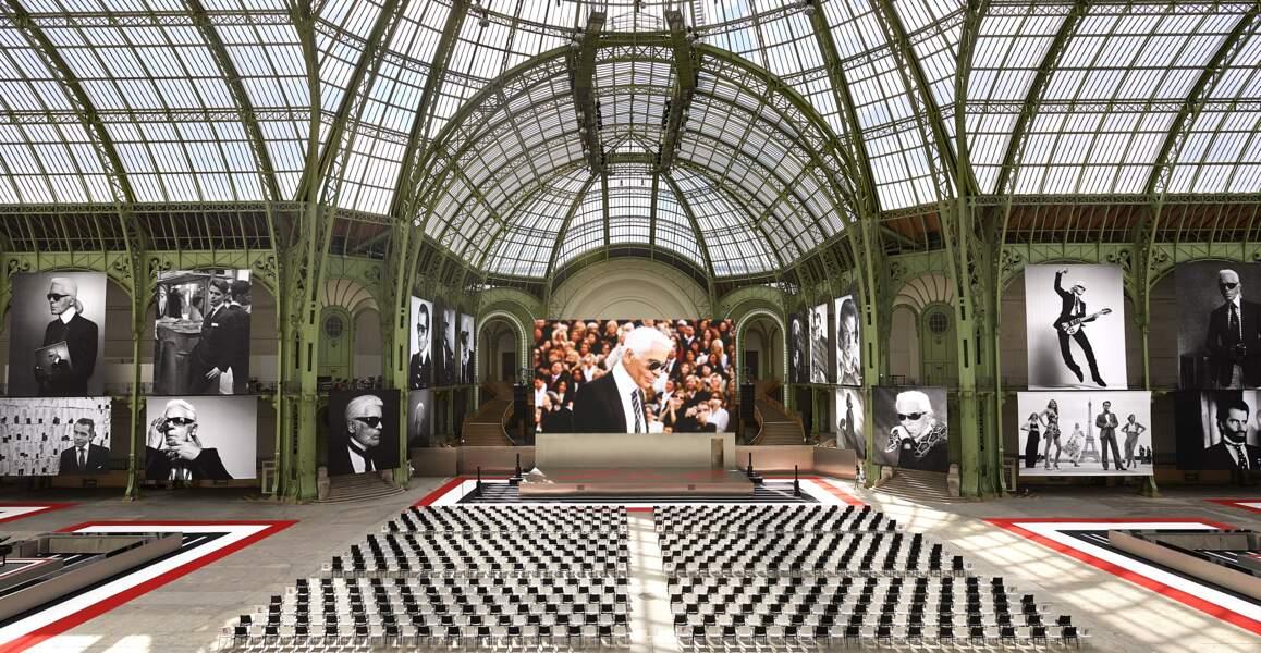 le Grand Palais aux couleurs de Karl Lagerfeld pour une soirée hommage