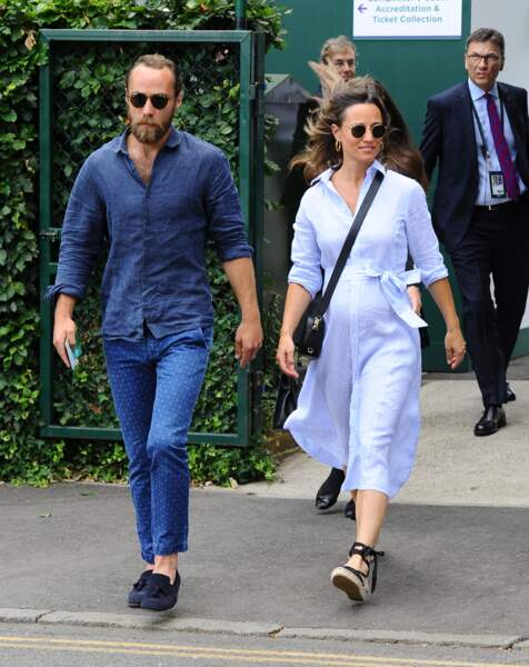 Pippa Middleton et son frère James Middleton à leur arrivée