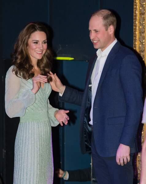 Kate et William lors d'une réception à l'Empire Music Hall à Belfast, le 27 février 2019