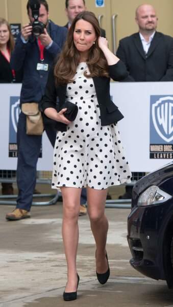 Kate Middleton porte souvent des robes à pois