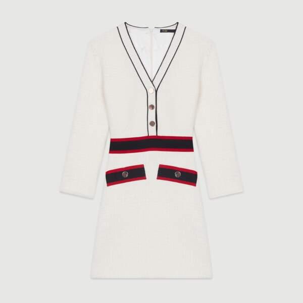 Robe courte en tweed, 275 €, Maje.