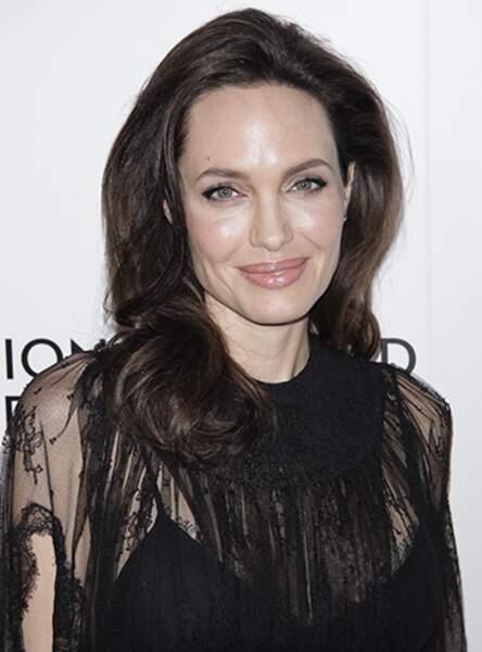 Angelina Jolie et ses longueurs brunes façon maxi volume