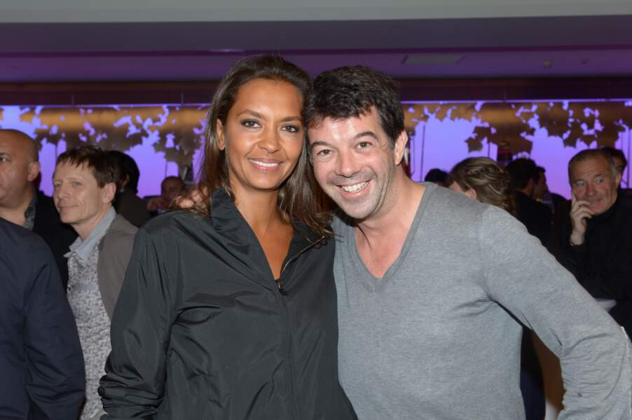 Karine Le Marchand et Stéphane Plaza à l'inauguration du Pure Club Med Gym Bastille à Paris, le 7 juin 2012