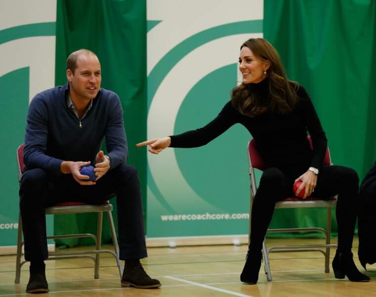 William et Kate  en visite au centre Coach Core Essex à Basildon. Le 30 octobre 2018