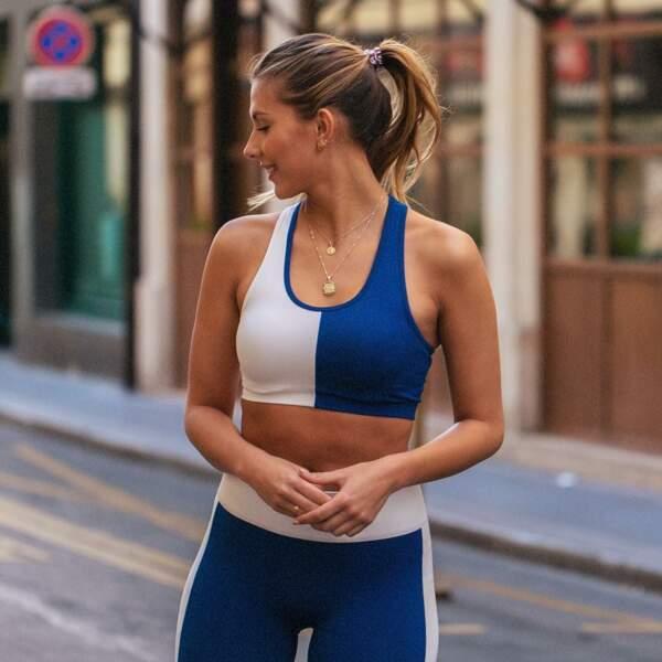 Sportive, Camille Cerf affiche sa silhouette élancée en tenue de running en avril 2019