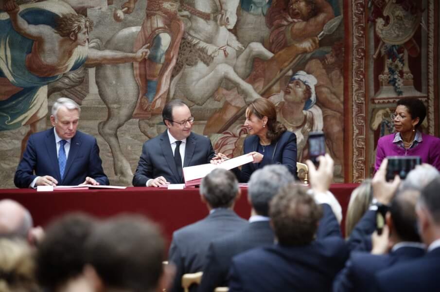Cérémonie de ratification de l'accord de la COP21, le 15 Juin 2016