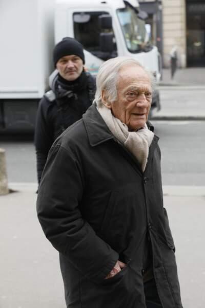 Philippe Tesson aux obsèques de Henry Chapier en l'église Notre-Dame des Champs à Paris le 4 février 2019