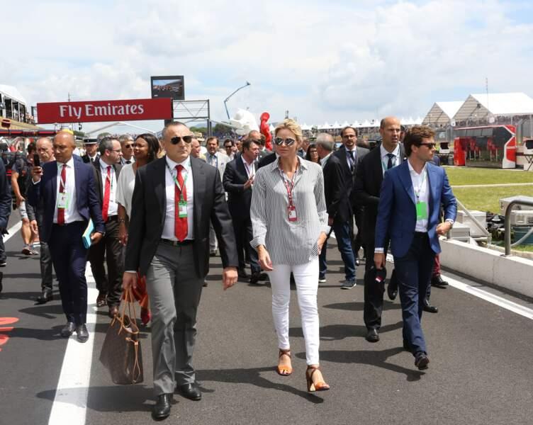 Albert et Charlene de Monaco au Grand Prix de France au Castellet le 24 juin