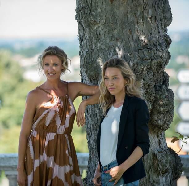 Alexandra Lamy et Laura Smet, deux actrices françaises, belles au naturel