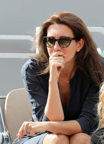 La séduisante Anne-Claire Coudray à Roland Garros, le 3 juin 2019.
