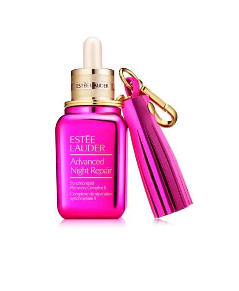 Advanced Night repair avec son porte-clef, Estée Lauder, 122 €, 10%des ventes reversées contre le cancer du sein