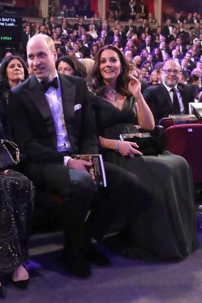 Kate Middleton et le prince William assistent à la cérémonie des BAFTA 2018