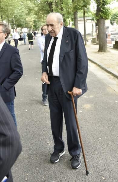 Pierre Benichou ce jeudi 12 juillet au cimetière de Montparnasse lors des funérailles de Claude Lanzmann