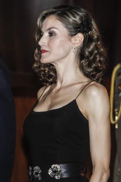 La Reine Letizia d'Espagne au concert du prix des Asturies, le 20 Octobre 2016