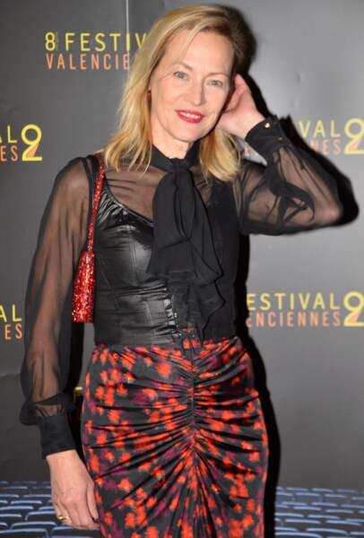 """Gabrielle Lazure (61 ans), héroïne de la série """"Un si grand soleil"""", lors du festival de Valenciennes, en 2018"""