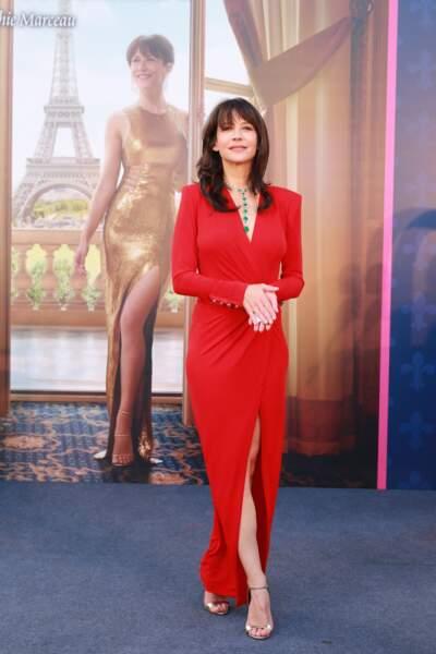 """Sophie Marceau (52 ans), lors d'une soirée au palace """"The Parisian"""" à Macao, en Chine, en 2017"""
