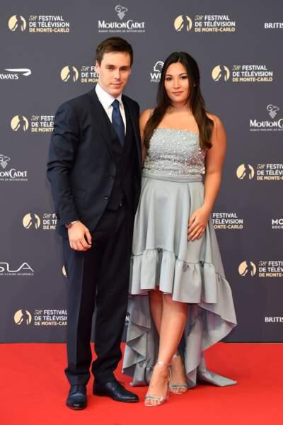 Louis Ducruet et sa fiancée Marie Chevallier âgés de 24 ans à Monaco le 15 juin 2018