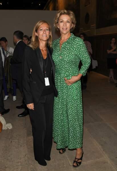 Anne Gravoin a pris la pose aux côtés de l'actrice Corinne Touzet à l'hôtel national des Invalides