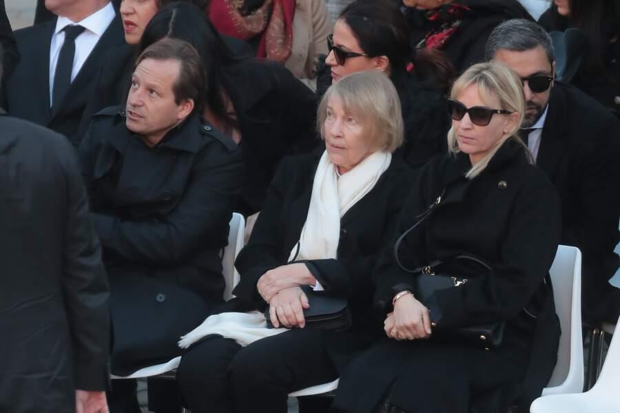 Ulla Aznavour entourée de Katia et Mischa lors l'hommage national à Charles Aznavour ce vendredi 5 octobre