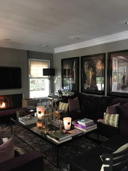 Le salon de Laeticia et Johnny Hallyday à Los Angeles