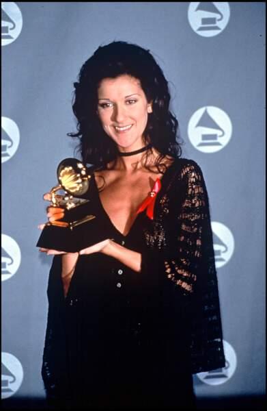 Céline Dion aux Grammy Awards en 1993