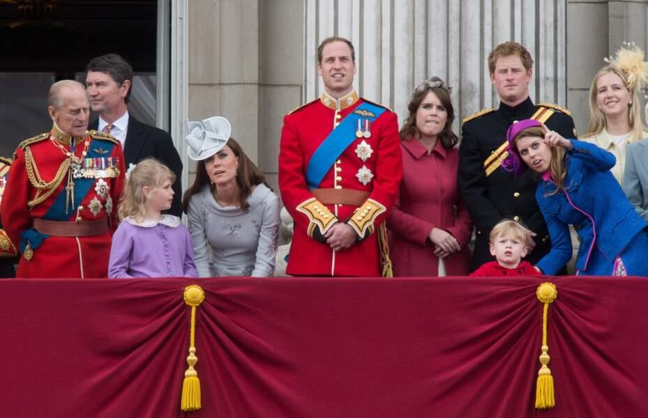 Eugénie d'York et Béatrice d'York, avec leurs cousins, les princes William et Harry, en juin 2012