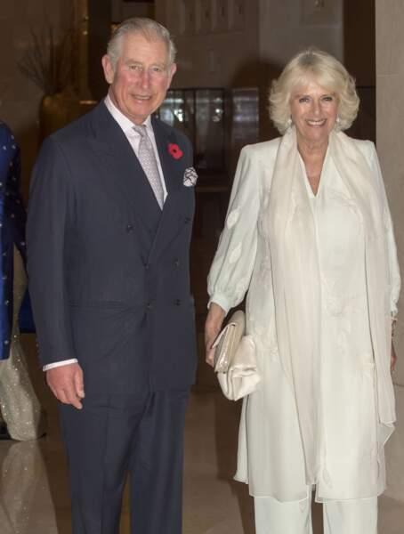 La prince Charles et sa femme Camilla en visite au sultanat d'Oman le 5 novembre 2016