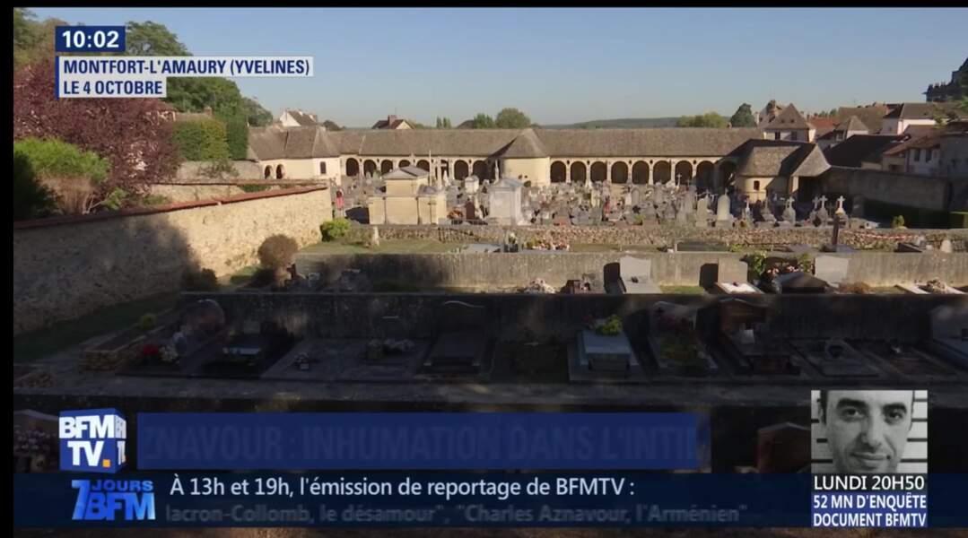 Cimetière de Monfort L'Amaury où sera inhumé Charles Aznavour