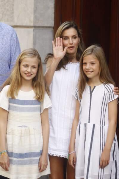 Letizia d'Espagne est très complices avec ses deux princesses