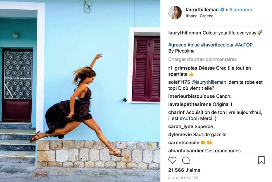 Laury Thilleman s'amuse en Grèce