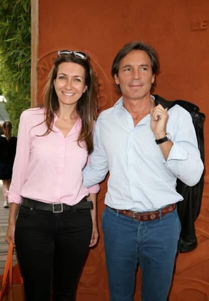 Anne-Claire Coudray et son compagnon Nicolas Vix à Roland Garros