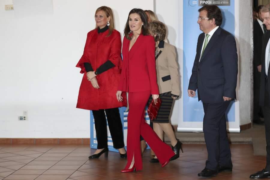 La reine Letizia d'Espagne à Cáceres le 6 mars pour la cérémonie de la Fondation Princesse de Gérone