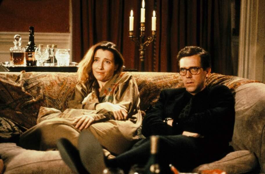 """Emma Thompson et Hugh Laurie dans le film """"Peter's friends"""" en 1992"""