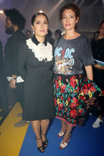 Salma Hayek Pinault and Ginevra Elkann chez Gucci
