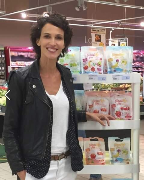Mannequin et actrice, Miss France 1992 vient de lancer une gamme de bonbons sans conservateurs, Gimme Five.