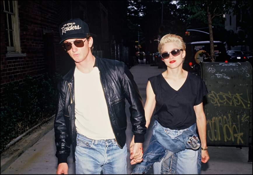 Madonna et Sean Penn, dans la rue en 1987
