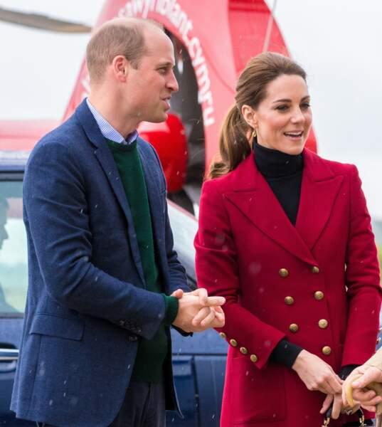 Cette visite de Kate Middleton et du prince William faisait partie d'un engagement au pays de Galles
