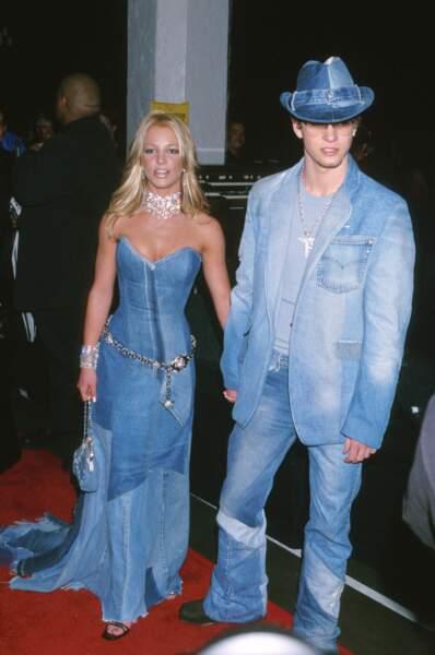 Britney Spears et Justin, le total look denim