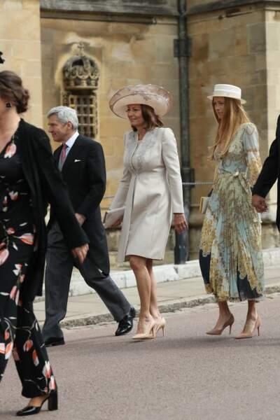 Carole Middleton était accompagnée son mari, Michael Middleton, au mariage de Gabriella Windsor, le 18 mai 2019