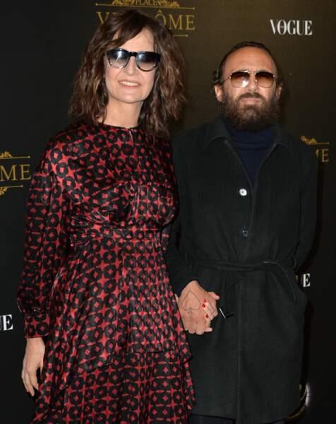 Valérie Lemercier et son compagnon Mathias Kiss le 1er octobre 2017