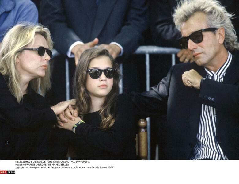 France Gall, sa fille Pauline lors des obsèques de Michel Berger en 1992