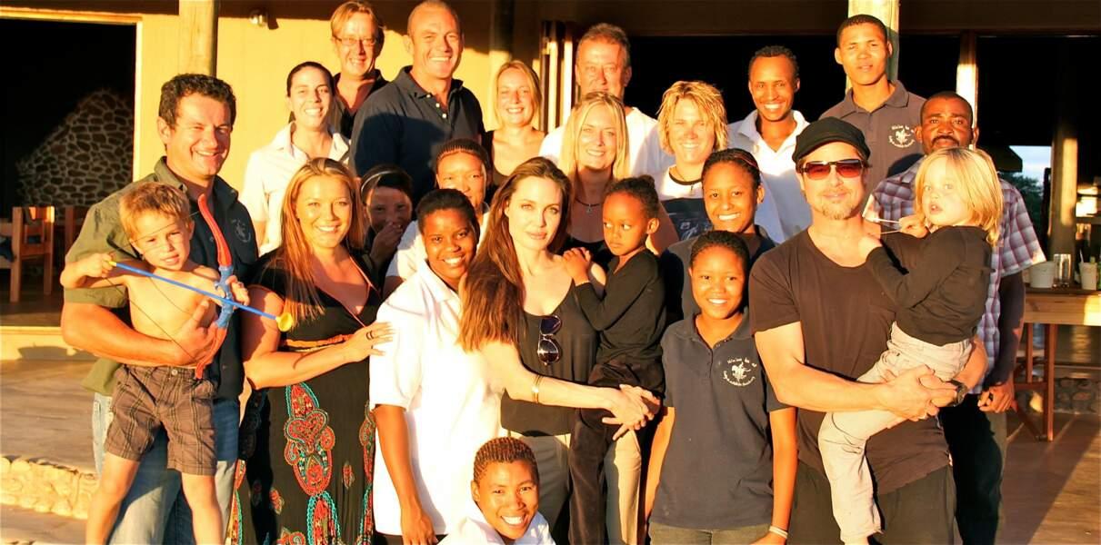 Angelina Jolie et Brad en Namibie en 2010