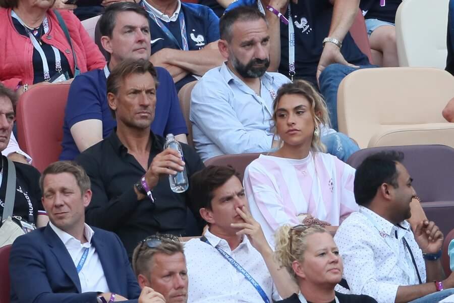 Hervé Renard et sa fille Candide Renard au stade Loujniki à Moscou, en Russie