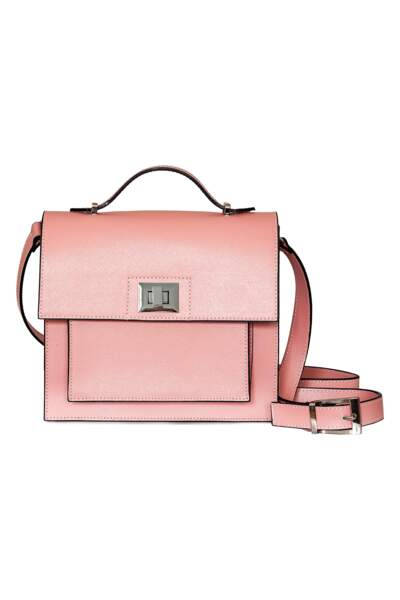 Poudré, sac cartable rose Cop Copine, 99 € (cop-copine.com)