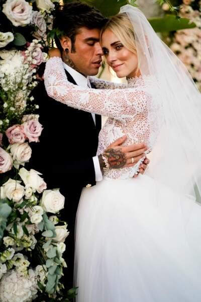 Deux stars : Chiara Ferragni l'influenceuse et son mari Fedez, le rappeur