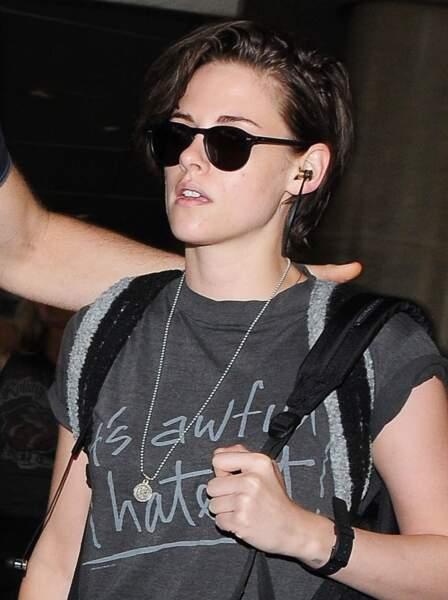 L'exemple parfait de la pixie longue et rock'n'roll avec Kristen Stewart