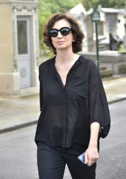Audrey Azoulay à l'enterrement de Claude Lanzmann ce jeudi 12 juillet à Montparnasse